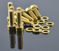 Wholesale 10pcs M5X18 Titanium Ti Socket head Bolt Screw Golden Gold Ti Washers A3