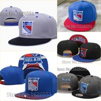 new york hats - Men s ice hockcy sport team cap New York NY Rangers fade print visor adjustable snapback Hat