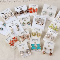 yiwu market - Korean version of the diamond color retention hypoallergenic earrings earrings Yiwu flea market ratailer stud for resell stud