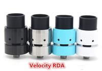 2016 Velocity RDA atomiseurs avec Airflow contrôle reconstructible dégoulinant mini-réservoirs de vitesse 510 fil ajustement mécanique cerise mod bombardier v2