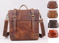 abrasive media - genuine leather totes one shoulder cross body anti abrasive leasure handbag for men in colors