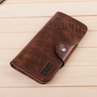 Wholesale Wallet Men Leather Wallet Pockets Card Clutch Cente Bifold Purse retail For