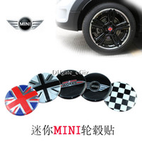 car wheel hub cap - 4x BMW Mini Car Wheel Center Resin Decal Stickers Emblem Badge Wheel Hub Caps Cover mm diameter SET OF