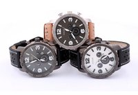army leather belt - New fossiler Wristwatch Men Quartz Watch Stainless Fashion Army table Hour dial Popular Masculino Relogio Reloj colors