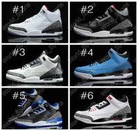 Wholesale Cheap Retro III Basketball Shoes For Men Women Training shoe Womens athletics Basketball Shoe Black White Cement Wolf Grey Sport