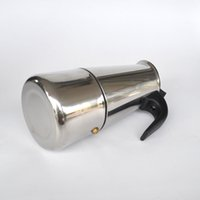 Wholesale High quality stainless steel mocha servings pot family Moka coffee mocha household tools ml coffee maker