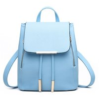 Wholesale 2015 casual patent pu leather women s backpack solid schoolbag female backpacks women preppy style High quality Brand