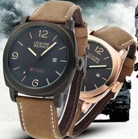 Wholesale Outdoor Sport Waterproof Fashion Curren Wristwatch With Auto Date Matte Leather Strap Swiss Wrist Watches For Men Colors