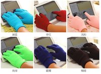 Wholesale Hot selling Colourful Stretchable Winter Warm Touch Screen Gloves Capacitive Screen Conductive Glove for Capacitive Screen Cellphone tablet