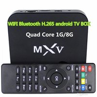 Wholesale hot MXV S805 WIFI Bluetooth H android TV BOX Quad Core G G Cortex GHZ Android smart tv case Xbmc smart Media Player