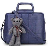 Wholesale Female bag new winter euramerican fashion lady bag stitching handbag bear one shoulder his duffle bag