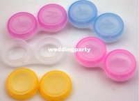 Wholesale Contact Lens Case Cooleye Transparent contact lens case Candy Color Dual Box Double Case