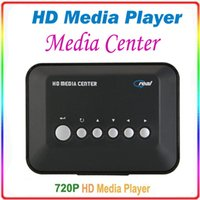 Wholesale 720p HD Multi Media Movie Center RM RMVB AVI MPEG MP3 MP4 TV Player USB SD MMC