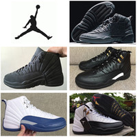 cheap sneakers - Nike dan Retro Basketball Shoes Men Original Sneakers Cheap Jordan XII PSNY The Master French Blue Boots Size Eur