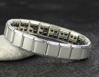 10шт Магнитный браслет энергетический баланс Мужская титана питания Nano Energy 80 германия камни