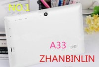 Wholesale 1X inch A33 quad core Q88 tablet Allwinner android GHz GB RAM GB Bluetooth Wifi