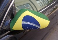 car mirror flag cover - Rear view mirror cover for World Cup for Brazil for Ford for Audi a6 car flags elastic strech custom car flag mirror