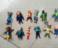 Wholesale 15lot Zootopia Pvc Action Figures Toy kids toys TOYS FOR GIRL Animal dolls Anime Utopia Nick Fox Judy Rabbit toy for gift YH001
