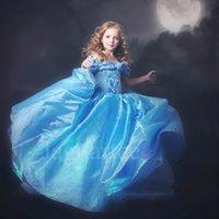 Wholesale Hot buy Cinderella Dress Kids Clothing Party Dress Summer Dresses Lace Dress Children Dresses Girl Dress vs Frozen elsa dress