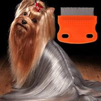 Wholesale Dog Flea Comb Steel Brush Hair Metal Comb Dog Grooming Trimmer Cute Pet Cat Dog Comb Color Random