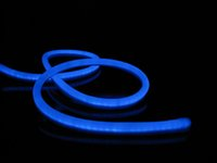 Wholesale 80LEDs m v LED Flexible neon strip rope light blue color with m Length per Roll