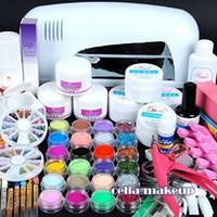acrylic nail kit - Nail Dryer w Uv Dryer Lamp Colors Acrylic Powder Nail Art Kit Gel Tools Full Set