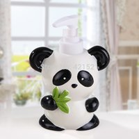 Wholesale Panda Resin Five pieces Bath Set Bathroom Set Bathroom Accessories Creative Wedding House Moving Gift