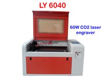 Wholesale Freeshipping V V LY CO2 Laser Engraving machine W laser CNC router with rotary axis