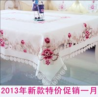 Wholesale Rustic fashion embroidered cloth dining table cloth round tablecloth table cloth table runner chair cover cushion chair set