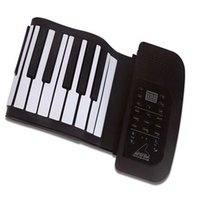 Wholesale Brand New KONIX Key MIDI Flexible Soft Silicone Electronic Roll Up Piano PA61 order lt no tracking