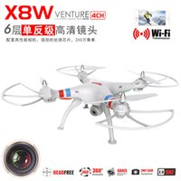 Wholesale Syma X8C X8W Wifi FPV Real Time Remote Control Quadcopter Ghz Axis Gyro RC Quadcopter UAV RTF w MP HD Camera SD Card