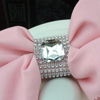 big dinner table - Transparent big Diamond Napkin Ring for Table Kitchen Serviette Holder Wedding Banquet Dinner Christmas Decor Favor