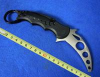 Cheap High quality Fox Claw Karambit Training knife G10 Handle Folding blade knife Outdoor gear EDC Pocket hunting knife cutting tool A545X