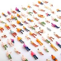 Wholesale Mini Painted Model People HO Scale Mix Painted Model Train Park Street Passenger People Figures