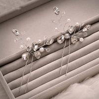 beautiful hair pins - Beautiful Faddish Type U Bridal Hairpins Pearl Rhinestone Wedding Hair Accessories Bride Jewelry Hairdress Wedding Supplies