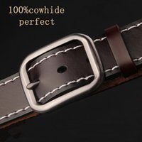 212272 pair of jeans - The new antique leather belt Hundred pure leather belts Can match a pair of jeans Business and leisure