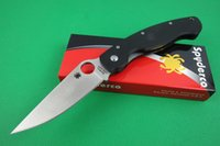 military survival - Promotion Spyderco C36 military Tactical folding knife CPM S30V HRC Blade Black G Handle Outdoor survival Camping knife knives