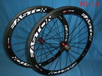 Wholesale 2016 Top Seller Carbon Wheelset Clinchers Tubular Free White Logo Print mm C K Glossy Pro Road Racing Bike Bicycle Wheel Bicycle Parts