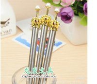 Wholesale New Vintage style classical metal crown ball pen Korean Style Princess Ball Pen