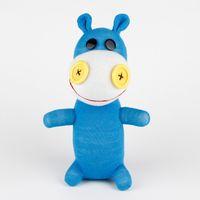 Wholesale Handmade sock monkey Hippo stuffed animal doll baby toys birthday gift