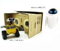 Wholesale Google Cardboard D glasses DIY Mobile Phone D Vr Virtual Reality Glasses for Samsung Galaxy S6 S5 Note iPhone plus with NFC DHL