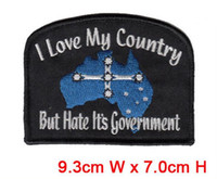 Wholesale Customised Bags - Australia's special mark professional computer embroidery patch promotion free shipping hot cut Iron on garment & bag accept customised