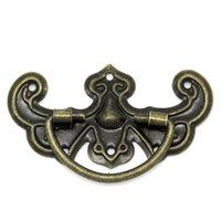 Wholesale Bronze Tone Pattern Drawer Cabinet Desk Door Pull Handle Knob Furniture Hardware
