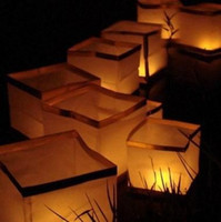 Wholesale 50pcs Square Floating Chinese Water Lantern Outdoor River Lantern Water Light