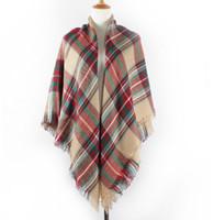 Wholesale 2015 scarf plaid new designer unisex acrylic basic wrap shawl women female Spring fall Cashmere Christmas gift Factory