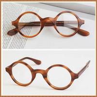 frames for glasses - Round Full Rim Eyeglass Frames Superior Eye Glasses Frames for Men and Women Colophony Memory Metal New Arrivals Hot Sale