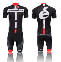 Wholesale 2014 CERVELO cycling jersey Black cycling clothing cycling wearing bicycle clothing Bib shorts set men breathable quick dry Summer S XL