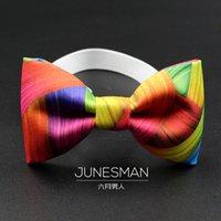 Wholesale handmade crafts custom models nano waterproof tie rainbow printing fashion Bright send gift b300