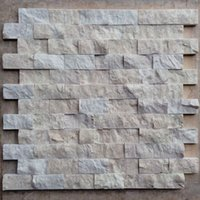 Wholesale Iraq boutique marble mosaic culture stone TV backdrop of three dimensional cross sectional support custom tile