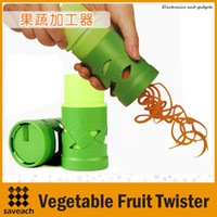 Wholesale New Arrival Vegetable Fruit Twister Slicer Cutter Device Kitchen Utensil Tool Processing High quality